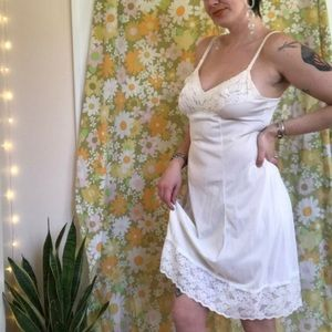vintage slip nighty with lace detail